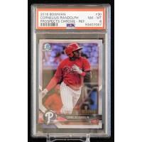 Cornelius Randolph 2018 Bowman Chrome Refractor Card #BCP30 PSA 8 NM-MT /499