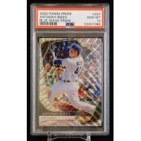 Anthony Rizzo Cubs 2020 Panini Prizm Blue Wave Card #224 PSA 10 Gem Mint 16/60