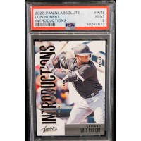 Luis Robert Chicago White Sox 2020 Panini Absolute Card #INT6 PSA 9 Mint