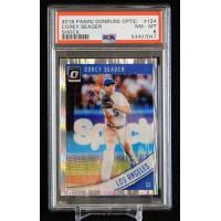 Corey Seager LA Dodgers 2018 Panini Donruss Optic Shock Card #124 PSA 8 NM-MT