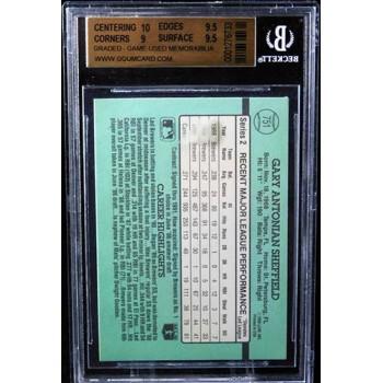 Gary Sheffield Milwaukee Brewers 1991 Donruss Card #751 Beckett BCCG 9.5 Jersey