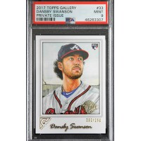 Dansby Swanson Atlanta Braves 2017 Topps Gallery Card #33 PSA 9 /250