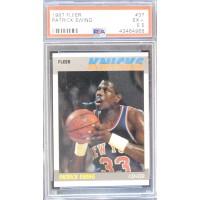 Patrick Ewing New York Knicks 1987-88 Fleer NBA Card #37 PSA Graded 5.5 EX+