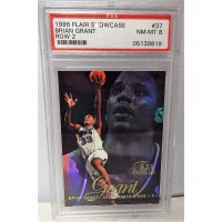 Brian Grant Sacramento Kings 1996/97 Flair Showcase Row 2 Card #37 PSA 8 NM-MT