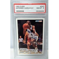Anfernee Penny Hardaway Orlando Magic 1993/94 Fleer Rookie Card #343 PSA 8