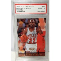 Michael Jordan Chicago Bulls 1998/99 Upper Deck MJX Timepieces Card #13 PSA 8