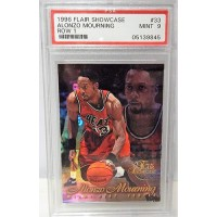 Alonzo Mourning Miami Heat 1996/97 Flair Showcase Row 1 Card #33 PSA 9 MINT