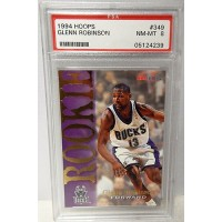 Glenn Robinson Milwaukee Bucks 1994/95 NBA Hoops Rookie Card #349 PSA 8 NM-MT