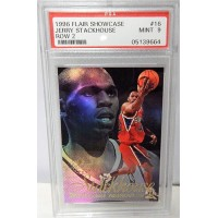 Jerry Stackhouse Philadelphia 76ers 1996/97 Flair Showcase Row 2 Card #16 PSA 9