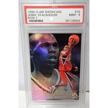 Jerry Stackhouse Philadelphia 76ers 1996/97 Flair Showcase Row 2 Card #16 PSA 9