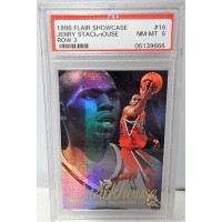 Jerry Stackhouse Philadelphia 76Ers 1996/97 Flair Showcase Row 2 Card #16 PSA 8