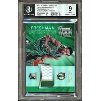 James Young 2014-15 Panini Spectra Freshman Fabrics Green Card 5/5 PATCH BGS 9