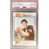 Ken Anderson Cincinnati Bangals 1973 Topps Rookie Card #34 PSA Graded 8 NM-MT
