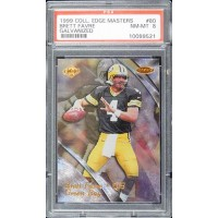 Brett Favre Green Bay Packers 1999 Collector's Edge Masters Card #80 PSA 8