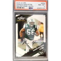 Vernon Gholston New York Jets 2009 Score Auto Card #209 PSA 8 NM-MT LE 1/199