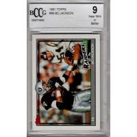 Bo Jackson Oakland Raiders 1991 Topps #99 Beckett 9 Mint