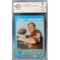 Sonny Jurgensen Washington Redskins 1971 Topps Football Card #50 Beckett BCCG 7