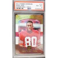 Jerry Rice San Francisco 49ers 2017 Panini Donruss Card #14 PSA 8 NM-MT LE 100