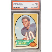 Gale Sayers Chicago Bears 1970 Topps Card #70 PSA Graded 8 NM-MT 43465020