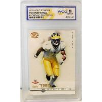 David Terrell NFL Draft Picks 2001 Pacific Dynagon #107 Rookie Card WCG 10