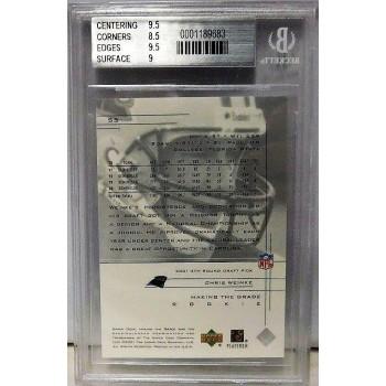 Chris Weinke Panthers 2001 Upper Deck Rookie Series Card #55 Beckett 9 Mint