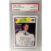 Wayne Gretzky Los Angeles Kings 1988/89 Topps #120 Card PSA Graded 8 NM-MT