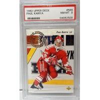 Paul Kariya 1992-93 Upper Deck #586 PSA NM-MT 8 Rookie Card Team Canada/Ducks