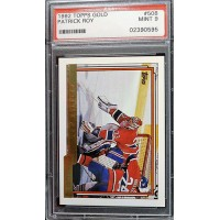 Patrick Roy Montreal Canadiens 1992/93 Topps Gold Card #508 PSA Graded 9 Mint