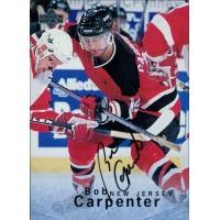 Bob Capenter Signed 1995-96 Upper Deck Be A Player Card #S11