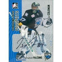 Gerald Coleman Signed 2005-06 ITG Heroes and Prospects Series 2 Card #A-GCL