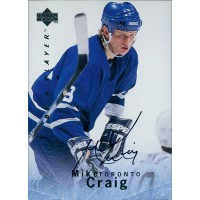 Mike Craig Toronto Maple Leafs Signed 1995-96 Upper Deck Be A Player Card #S17
