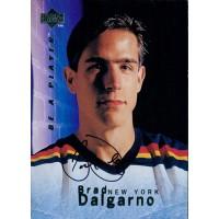 Brad Dalgarno New York Islanders Signed 1995-96 Upper Deck Hockey Card #S10