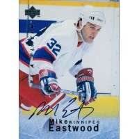 Mike Eastwood Winnipeg Jets Signed 1995-96 Upper Deck Be A Player Card #102