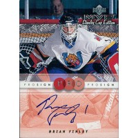Brian Finley Signed 1999-00 Upper Deck MVP Stanley Cup Edition ProSign Card C-BF