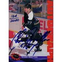 Chris Gratton Signed 1994-95 Classic Hockey Card /2000