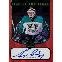 Guy Hebert Ducks Signed 1998 Upper Deck SP Authentic Sign of The Times Card #GH