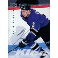 Ken Klee Signed 1995-96 Upper Deck Be A Player Hockey Card #S162