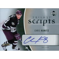 Chris Kunitz Anaheim Ducks Signed 2006-07 Upper Deck Trilogy Scripts Card #TS-KU