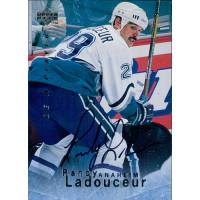 Randy Ladouceur Anaheim Mighty Ducks Signed 1995-96 Upper Deck Hockey Card #S37