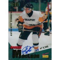 Donald MacLean Signed 1995 Signature Rookies 96 Draft Card #14 /4500