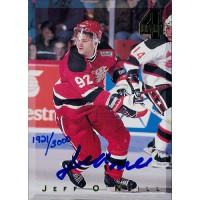 Jeff O'Neill Signed 1994 Classic 4 Sport Hockey Card /3000