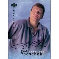 Rudy Poeschek Tampa Bay Lightning Signed 1995-96 Upper Deck Hockey Card #S53