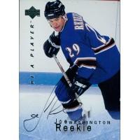 Joe Reekie Washington Capitals Signed 1995-96 Upper Deck Be A Player Card #S66