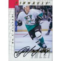 Ruslan Salei Anaheim Mighty Ducks Signed 1997-98 Pinnacle Be A Player Card #124