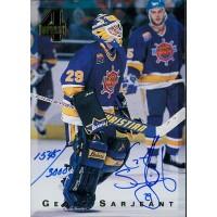 Geoff Sarjeant Signed 1994 Classic 4 Sport Hockey Card /3000