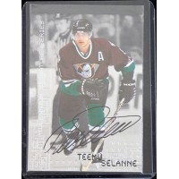 Teemu Selanne Signed 1999-00 In The Game Be A Player Millennium Signature #2