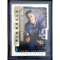 Teemu Selanne Anaheim Mighty Ducks Signed 1996-97 Pinnacle Be A Player #LTH-1B