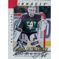 Mikhail Shtalenkov Anaheim Ducks Signed 1997-98 Pinnacle Be A Player Card #66