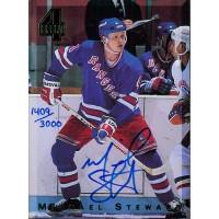 Michael Stewart New York Rangers Signed 1994 Classic 4 Sport Hockey Card /3000