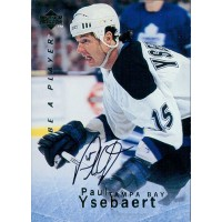 Paul Ysebaert Tampa Bay Lightning Signed 1995-96 Upper Deck Hockey Card #S139